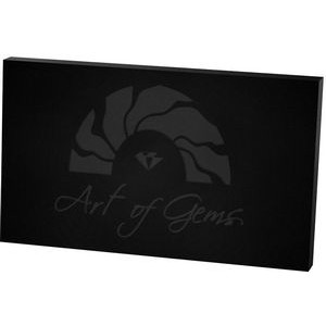 "Black Rectangle Paper Weight (3""x 5""x 3/8"") Laser Engraved"