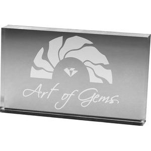 "Clear Rectangular Acrylic Paper Weight (3""x 5""x 3/4"") Laser Engraved"